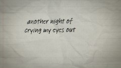 Crying My Eyes Out (Lyric Video) - Stephen Puth