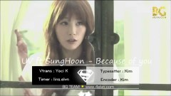 Because Of You (Vietsub) - UV, Sung Hoon (Brown Eyed Soul)