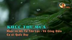 Khúc Thu Mưa (Karaoke) - Quốc Duy
