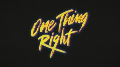 One Thing Right (Lyric Video) - Marshmello, Kane Brown