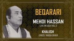 Beqarari (Live) (Pseudo Video) - Mehdi Hassan