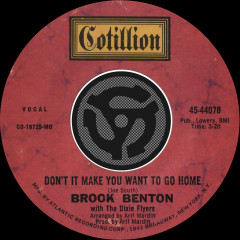 Don't It Make You Want To Go Home / I've Gotta Be Me [Digital 45] - Brook Benton
