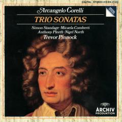 Corelli: Trio Sonatas Op. 1 No.1; Op. 2 No. 6; Op. 1 No. 9; Op. 2 No. 9; Op. 1 No. 3; Op. 2 No. 4; Op. 1 No. 7; Op. 2 No. 12; Op. 1 No. 11; Op. 1 No. 12 - Trevor Pinnock, William Pleeth, Simon Standage, Michaela Comberti, Nigel North