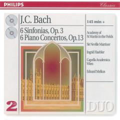 Bach, J.C.: 6 Sinfonias Op.3/6; Piano Concertos Op.13 - Academy of St. Martin in the Fields, Sir Neville Marriner, Ingrid Haebler, Capella Academica, Wien, Eduard Melkus