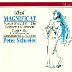 Bach, J.S.: Magnificat in D Major; Mass in A Major; Mass in F Major; Mass in G Minor; Mass in G Major - Peter Schreier, Barbara Bonney, Birgit Remmert, Rainer Trost, Olaf Bär