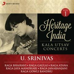 Heritage India (Kala Utsav Concerts, Vol. 1) [Live] - U. Srinivas
