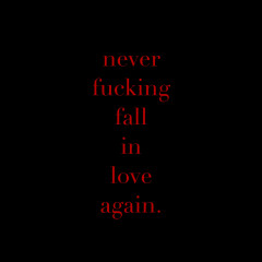 Never Fucking Fall in Love Again
