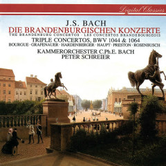 Bach, J.S.: Brandenburg Concertos Nos. 1-6; Concerto For 3 Violins; Concerto For Flute & Violin - Peter Schreier, Kammerorchester Carl Philipp Emanuel Bach