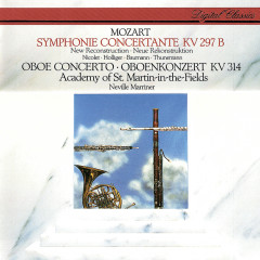 Mozart: Sinfonia Concertante; Oboe Concerto - Heinz Holliger, Aurèle Nicolet, Hermann Baumann, Klaus Thunemann, Academy of St. Martin in the Fields