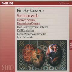 Rimsky-Korsakov: Scheherazade; Capriccio Espagnol; Russian Easter Overture - Herman Krebbers, Royal Concertgebouw Orchestra, Kirill Kondrashin, London Symphony Orchestra, Igor Markevitch