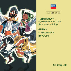 Tchaikovsky: Symphonies 2 & 5 / Russian Orchestral Works - Sir Georg Solti, Israel Philharmonic Orchestra, Berliner Philharmoniker, Paris Conservatoire Orchestra