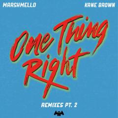 One Thing Right (Remixes Pt. 2) - Marshmello, Kane Brown