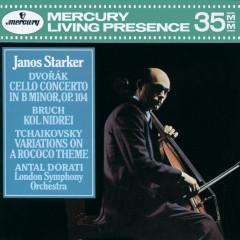 Dvorák: Cello Concerto / Bruch: Kol Nidrei / Tchaikovsky: Variations on a Rococo Theme - Janos Starker, London Symphony Orchestra, Antal Doráti
