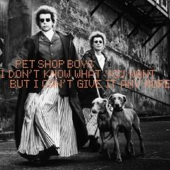 I Don't Know What You Want but I Can't Give It Anymore - Pet Shop Boys