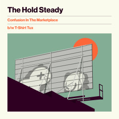 Confusion In The Marketplace b/w T-Shirt Tux - The Hold Steady