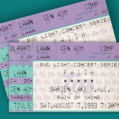 8/7/93 Darien Lake Performing Arts Center, Darien Center, NY (Live) - Phish