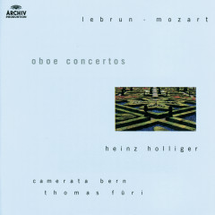 Lebrun / Mozart: Oboe concertos - Heinz Holliger, Thomas Füri, Hans Stadlmair