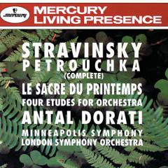 Stravinsky: Petrouchka; The Rite of Spring; 4 Etudes - London Symphony Orchestra, Minneapolis Symphony Orchestra, Antal Doráti
