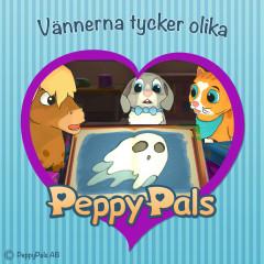 Vännerna tycker olika (Ljudbok) - Peppy Pals