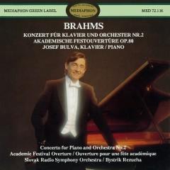 Brahms: Piano Concerto No. 2 & Academic Festival Overture - Josef Bulva, Slovak Radio Symphony Orchestra, Bystrik Rezucha
