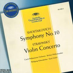 Stravinsky: Violin Concerto in D / Shostakovich: Symphony No.10, Op.93 - Wolfgang Schneiderhan, Czech Philharmonic Orchestra, Berliner Philharmoniker, Karel Ancerl