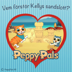 Vem förstör Kellys sandslott? (Ljudbok) - Peppy Pals