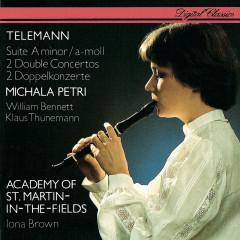Telemann: Recorder Suite; 2 Double Concertos - Michala Petri, William Bennett, Klaus Thunemann, Academy of St. Martin in the Fields, Iona Brown