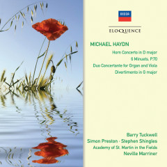 Michael Haydn: Horn Concerto; 6 Minuets - Barry Tuckwell, Simon Preston, Stephen Shingles, Academy of St. Martin in the Fields, Sir Neville Marriner