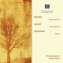 Brahms: Clarinet Quintet; Mozart: Clarinet Quintet; Baermann: Adagio - Alfred Boskovsky, Wiener Oktett