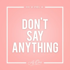 Don't Say Anything - As One