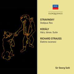 Stravinsky: Oedipus Rex; Strauss: Elektra (Scenes); Kodaly: Hary Janos Suite - Sir Georg Solti, London Philharmonic Orchestra, The John Alldis Choir, Bayerisches Staatsorchester, Christel Goltz