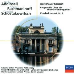 Addinsell; Rachmaninoff; Schostakowitsch: Warschauer Konzert; - Cristina Ortiz, Vladimir Ashkenazy, London Philharmonic Orchestra, London Symphony Orchestra, Royal Philharmonic Orchestra