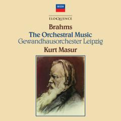 Brahms: Complete Orchestral Works - Kurt Masur, Gewandhausorchester Leipzig, Misha Dichter, Salvatore Accardo, Heinrich Schiff