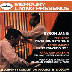 Prokofiev: Piano Concerto No.3 / Rachmaninov: Piano Concerto No.1 etc. - Byron Janis, Moscow Philharmonic Symphony Orchestra, Kirill Kondrashin