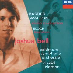 Barber / Walton: Violin Concertos / Bloch: Baal Shem