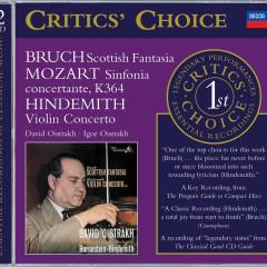 Mozart: Sinfonia Concertante/Bruch: Scottish Fantasia; Hindemith: Violin Concerto - David Oistrakh, Igor Oistrakh, Moscow Philharmonic Orchestra, Kirill Kondrashin, London Symphony Orchestra