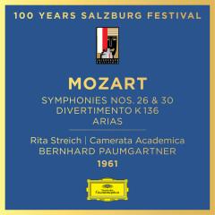 Mozart: Symphony Nos. 26 & 30; Divertimento, K. 136; Arias - Rita Streich, Camerata Academica des Mozarteums Salzburg, Bernhard Paumgartner