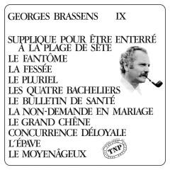 George Brassens IX (N°11) Supplique pour être enterré à la plage de Sète - Georges Brassens