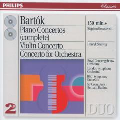 Bartók: The Piano Concertos; Violin Concerto No.2; Concerto for Orchestra - Stephen Kovacevich, Henryk Szeryng, London Symphony Orchestra, Royal Concertgebouw Orchestra, BBC Symphony Orchestra