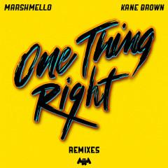 One Thing Right (Remixes) - Marshmello, Kane Brown