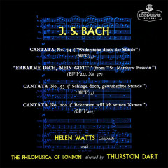Bach, J.S.: Cantatas Nos. 53, 54, 200; Erbarme dich - Helen Watts, Philomusica of London, Thurston Dart