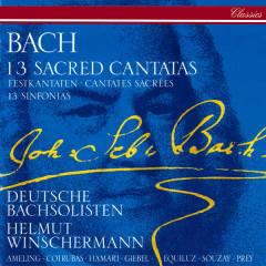 Bach, J.S.: 13 Sacred Cantatas; 13 Sinfonias - Helmut Winschermann, Elly Ameling, Ileana Cotrubas, Agnes Giebel, Julia Hamari