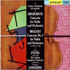 Hindemith; Mozart - Violin Concertos - Lillian Fuchs,Joseph Fuchs