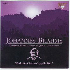 Johannes Brahms Edition: Complete Works (CD43)