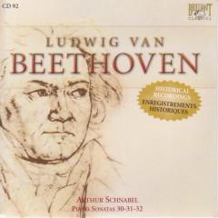 Complete Works CD 092 Piano Sonatas Op. 30, 31, 32 Artur Schnabel