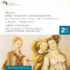 Mozart - The Violin Concertos CD 1 - Simon Standage,Christopher Hogwood