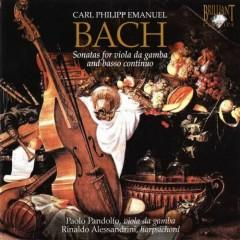 C.P.E Bach - Sonatas For Viola Da Gamba & Basso Continuo  - Paolo Pandolfo