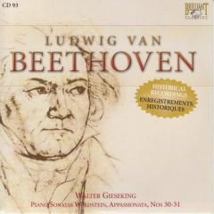 Complete Works CD 093  Piano Sonatas  Nos. 21, 23, 30, 31  Walter Gieseking