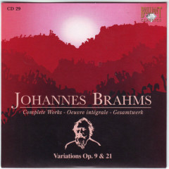 Johannes Brahms Edition: Complete Works (CD29)