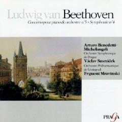 Beethoven Piano Concerto No 5 & Symphony No 4 - Arturo Benedetti Michelangeli,Yevgeny Mravinsky
